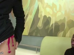 27cm Black Cock Ass Fuck Blonde German Teen in Lingerie
