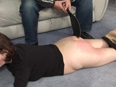Bare bottom spanking 2