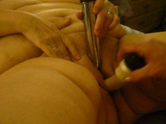 Vibrating My Clit While Finger & Dildo Fucked