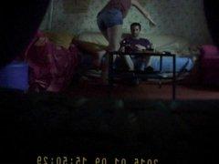 Hidden cam - Nice ass GF comes on my knees before fucking
