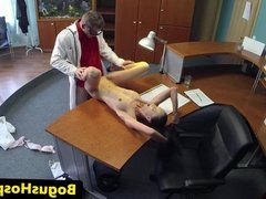 Hidden hospital cam with slutty tattooed babe