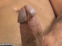 Skinny Twink Jerks His Big Cock