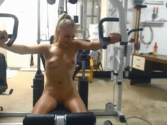 Nude Workout with Vibrator 3 of 5