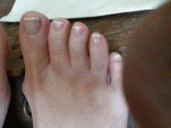 Mmm bare feet no polish