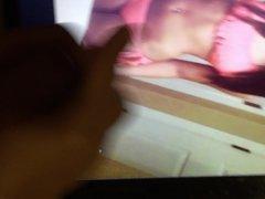 Cumming on Japanese teen in bikini photo 2