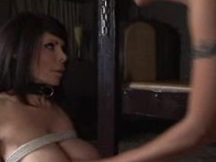 Femdom Latex Lesbian Spanking and Strapon with Ashley Renee