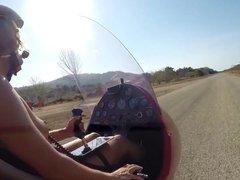 Naked Gyrocopter Girl