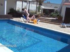 baise a la piscine avec couple amateur francais devant voyeu