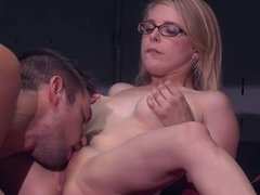 Blonde gets sex in van