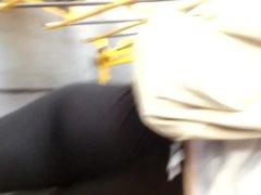 spandex butt jiggles