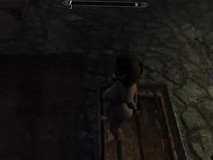 Perils of escaped Skyrim slavegirl 08