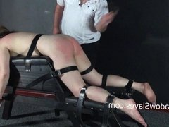Hellpain whipping and feet spanking of punished amateur