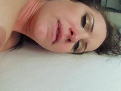 Katie St. Ives wearing pantyhose sucks and rides a hard dick
