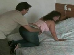 Husband can't get enough of wife's big ass in jeans
