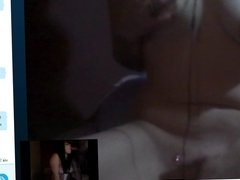 Skype lesbian masturbates for my video