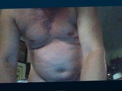Spanish gay daddy wanking on cam
