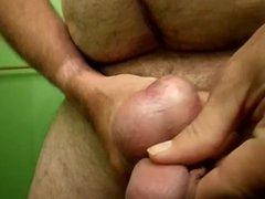 Upside down dick & balls play