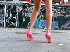 High Heels Christina Ventura backstage