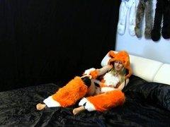 Lady Fox in Beige Pantyhose