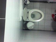 Girl real voyeur bathroom
