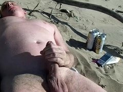 long slow exhibitionist cock show on the public beach