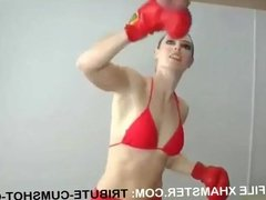 GIRL TAKES A FISTS BALLS.