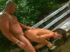 Taylor St.Claire fucked on bench