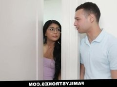 Family Strokes - Blowing Her Step Brother While Mom's Home