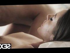 Sexy blonde has hot lesbian sex with stunning brunette girlfriend