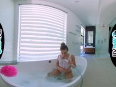 WETVR Bath Creeper Fills Up Step Sister In VR POV