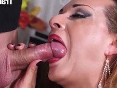 TransBella - Milena Ninfetta Big Tits Brazilian Shemale Rough Anal Drilling With Kinky Guy