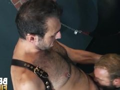 'BEARFILMS Stud Topher Michaels Barebacks Hairy Sub In Dungeon'