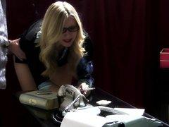 Hot Blonde gets a nice ass spanking 2