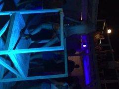 Ukrainian girl dancing in a club.