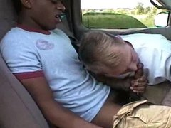 Black cut dick in White mouth, in car (53'')