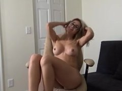 hot girl in glasses stripping