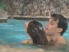 Renee Morgan in the pool