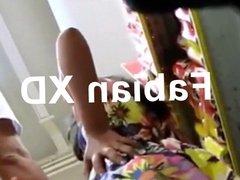 #Upskirt girl dress under