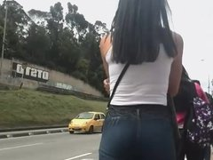 #GIRL NICE ASS bus stop XD