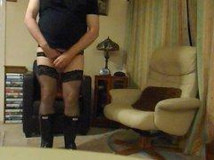 Black Stockings, Panties and Wellingtons