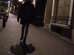 petite vire en ville de nuit