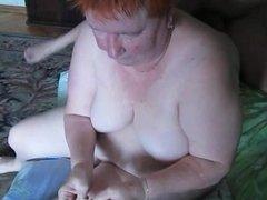 Granny love eat cum