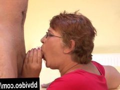 Fat german mature woman eat dick