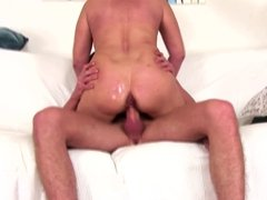 MOM son's friend at rough anal sex with creampie