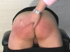 British Girl Spanked and whipped in leggings