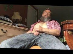 Str8 bear daddy stroke in his room