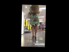 Hot business Milf in a Short Green Dress