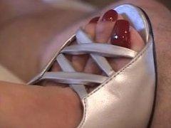 long red nails Hand Job