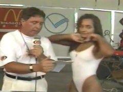 Gata Verao. Representante de Sao Vicente. Bandeirantes.