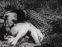 Hard Sex in Green Meadow (1930s Vintage)